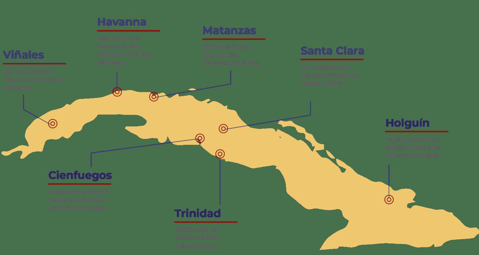 Kuba Map